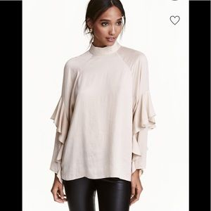 H&M blouse with frills
